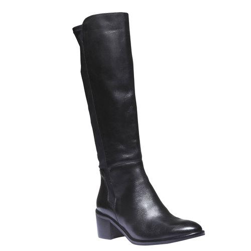 Stivali di pelle bata, nero, 694-6249 - 13