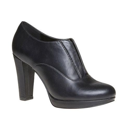 Scarpe basse da donna con tacco alto bata, nero, 721-6289 - 13