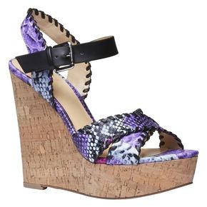 Sandali da donna con plateau e cinturino bata, viola, 761-9527 - 13
