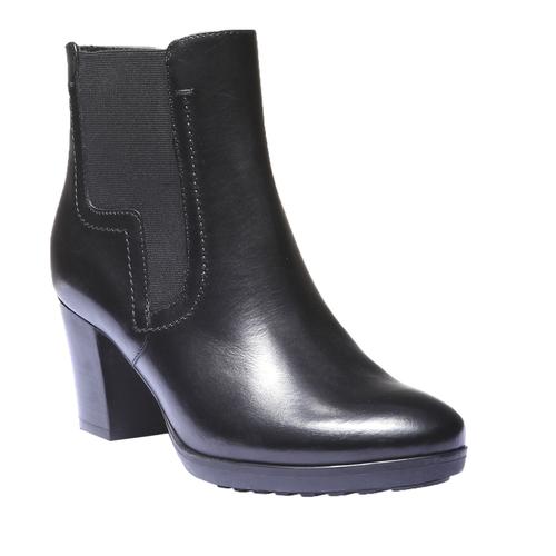 Scarpe di pelle alla caviglia bata, nero, 794-6564 - 13