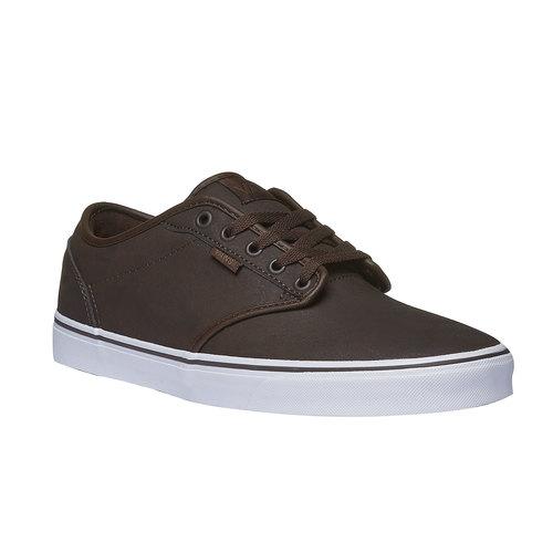 Sneakers da uomo con suola bianca vans, marrone, 801-4300 - 13