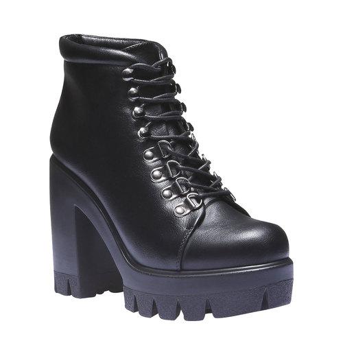 Scarpe alla caviglia con suola massiccia bata, nero, 791-6486 - 13