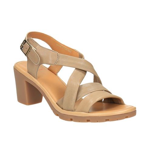 Sandali da donna in pelle flexible, marrone, 764-8538 - 13