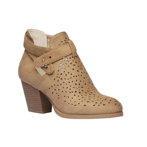 Stivaletti alla caviglia con perforazioni bata, marrone, 799-3627 - 13