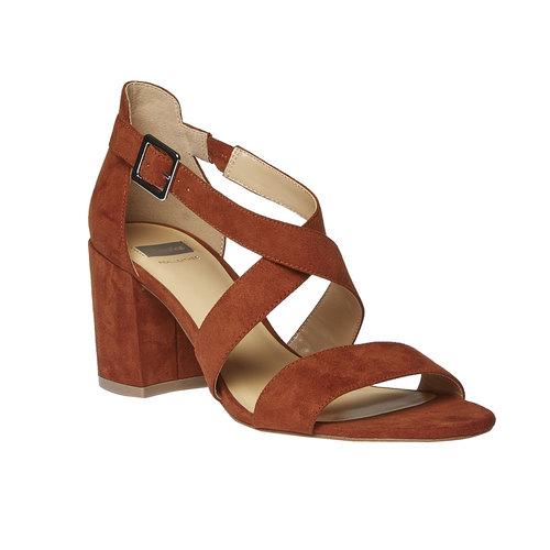Sandali dal tacco ampio bata, marrone, 769-3317 - 13
