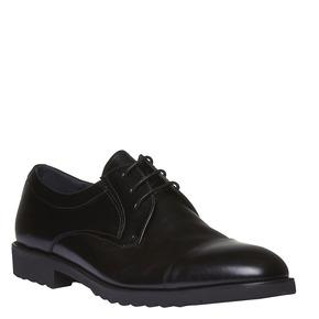 Scarpe stringate di pelle in stile Derby bata, nero, 824-6398 - 13