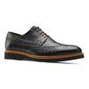 Scarpe basse di pelle con suola appariscente bata-the-shoemaker, nero, 824-6190 - 13