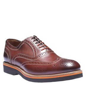 Oxford di pelle con suola appariscente shoemaker, marrone, 824-4132 - 13