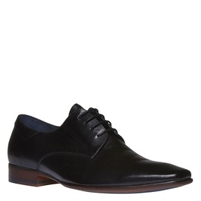 Scarpe basse di pelle in stile Derby bata, nero, 824-6536 - 13