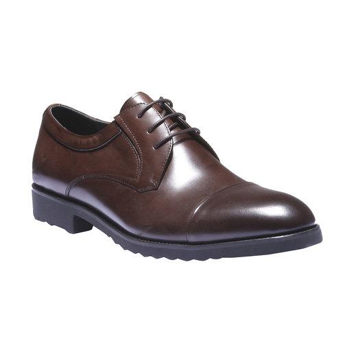 Scarpe basse in pelle in stile Derby bata, marrone, 824-4398 - 13
