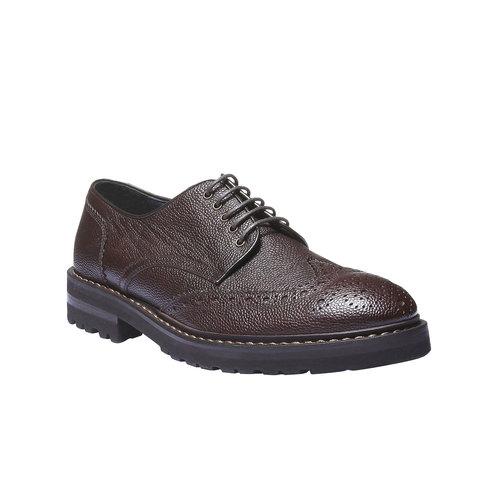 Scarpe basse di pelle in stile Derby bata, marrone, 824-4384 - 13
