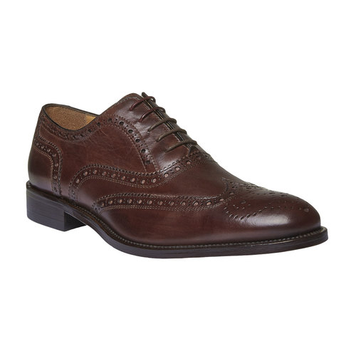 Oxford di pelle shoemaker, marrone, 824-4594 - 13