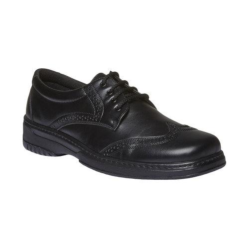 Scarpe Derby in pelle pinosos, nero, 824-6755 - 13