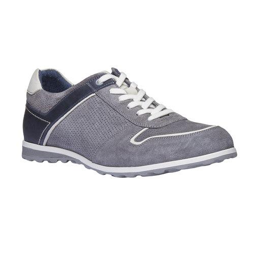 Sneakers da uomo in pelle bata, grigio, 843-2637 - 13