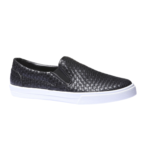 Sneakers trendy Plimsoll bata, nero, 831-6107 - 13