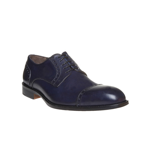 Scarpe basse in pelle di colore blu bata-the-shoemaker, blu, 824-9192 - 13