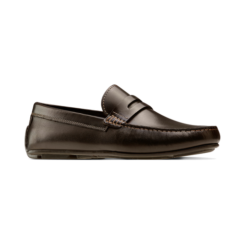 Mocassini da uomo in pelle nera bata, marrone, 854-4178 - 13