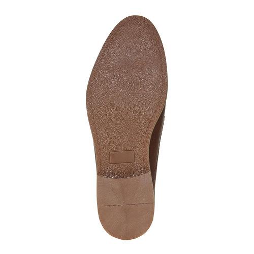 Scarpe basse di pelle in stile Derby bata, marrone, 824-4745 - 26