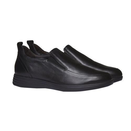 Slip-On di pelle air-system, nero, 814-6133 - 26