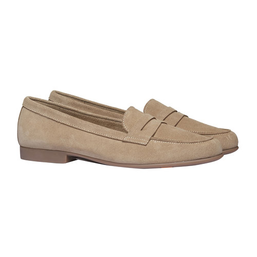 Penny Loafer di pelle flexible, beige, 513-8196 - 26