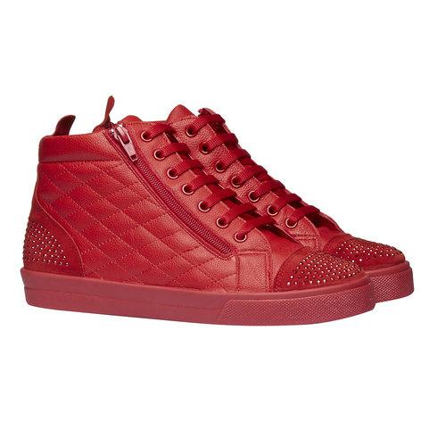 Sneakers rosse alla caviglia north-star, rosso, 543-5127 - 26