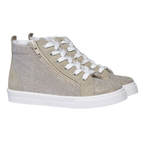 Sneakers alla caviglia con riflessi metallici north-star-junior, marrone, 329-3195 - 26