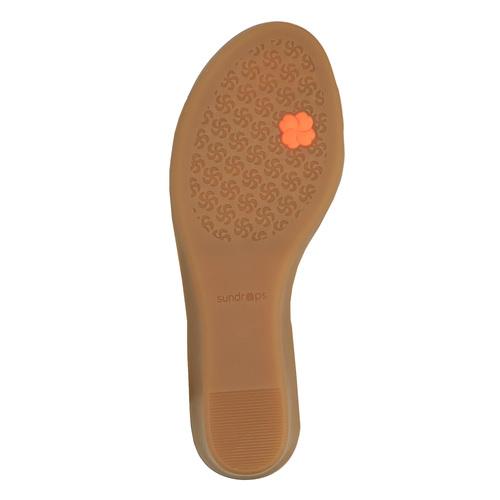 Sandali di pelle con tacco a zeppa sundrops, giallo, 564-8400 - 26