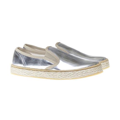 Slip-on argentate da donna north-star, bianco, 551-1104 - 26