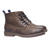 Scarpe di pelle alla caviglia bata, marrone, 893-3204 - 26