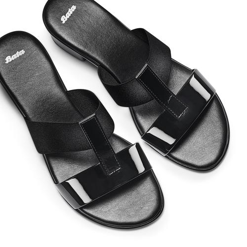 Sandali da donna con tacco basso bata, nero, 671-6835 - 26