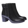 Scarpe di pelle alla caviglia bata, nero, 794-6566 - 26