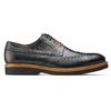 Scarpe basse di pelle con suola appariscente bata-the-shoemaker, nero, 824-6190 - 26