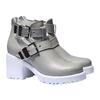 Scarpe da donna alla caviglia con suola massiccia bata, grigio, 794-2490 - 26