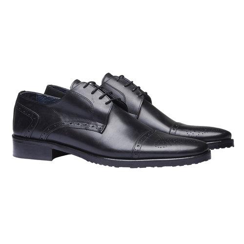Scarpe basse di pelle in stile Derby bata, nero, 824-6809 - 26