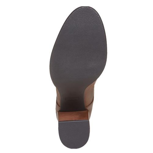 Scarpe basse da donna con tacco massiccio bata, marrone, 721-4307 - 26
