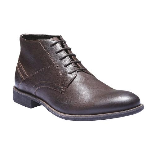 Scarpe di pelle alla caviglia bata, marrone, 894-4178 - 13