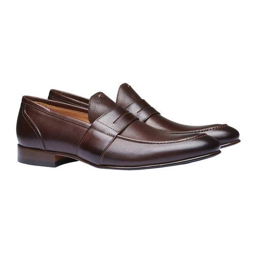 Penny Loafer di pelle shoemaker, marrone, 814-4146 - 26