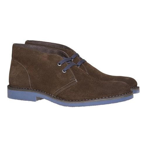Scarpe alla caviglia in stile Chukka bata, marrone, 893-4275 - 26