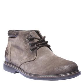 Scarpe da uomo in camoscio bata, marrone, 893-4261 - 13