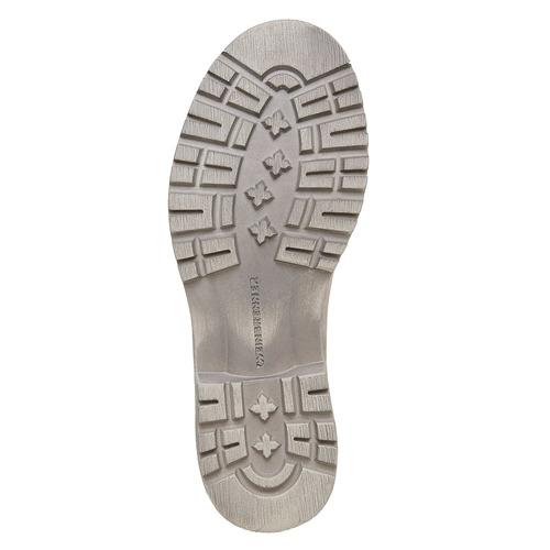 Scarpe di pelle alla caviglia weinbrenner, beige, 596-8405 - 26