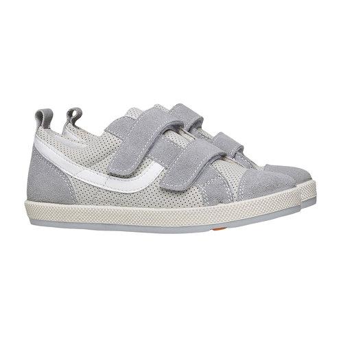 Sneakers da bambino con perforazioni flexible, grigio, 311-2217 - 26