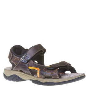 Sandali da uomo in pelle weinbrenner, marrone, 864-4218 - 13