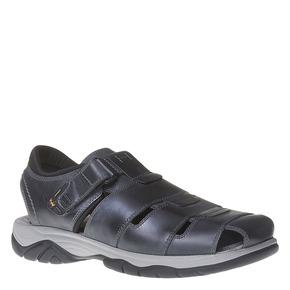 Sandali da uomo in pelle weinbrenner, nero, 864-6213 - 13
