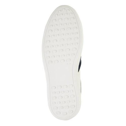 Sneakers bianche di pelle bata, bianco, 844-1639 - 26