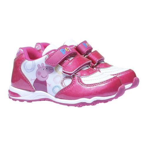 Sneakers da bambina peppa-pig, rosso, 221-5134 - 26