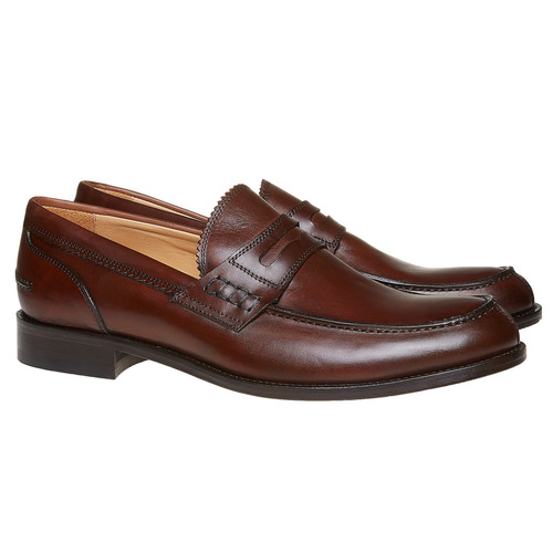 Penny Loafer di pelle da uomo bata-the-shoemaker, marrone, 814-4160 - 26