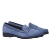 Scarpe di pelle in stile Penny Loafer flexible, blu, 516-9112 - 26