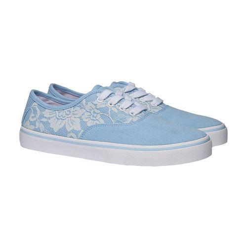 Sneakers con pizzo north-star, viola, 549-9222 - 26