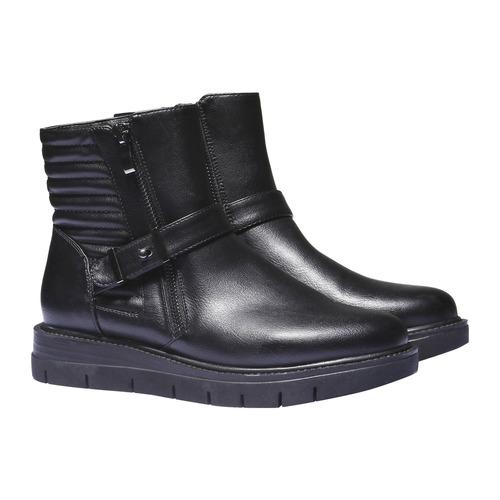 Scarpe alla caviglia dal design originale bata, nero, 691-6154 - 26