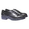 Sneakers informali con suola di contrasto bata, nero, 521-6364 - 26